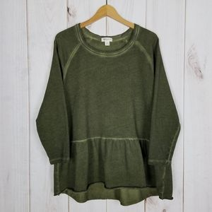 Style & Co | Army Green Ombre Fade Sweatshirt - 1X